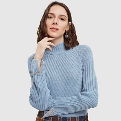 Contrast Ribbed Tricot