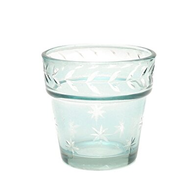 Glass Candle Holder (  7 X 7 Cm  )