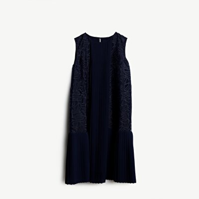 Pleated Panel Detailed Dress