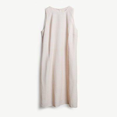 Resim Ham Kenarlı Midi Elbise