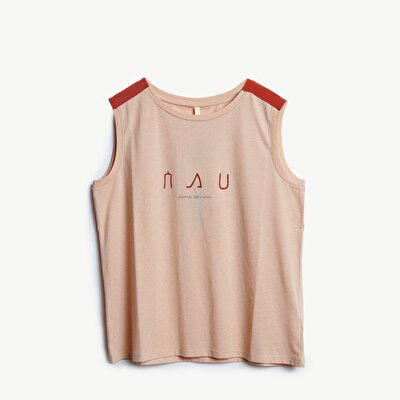 Picture of Shoulder Detailed Sleeveless T-Shirt