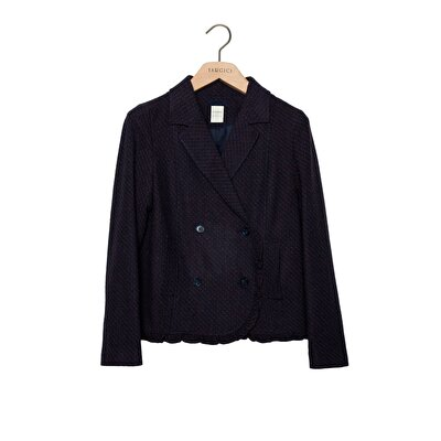Resim Fırfır Detaylı Palto