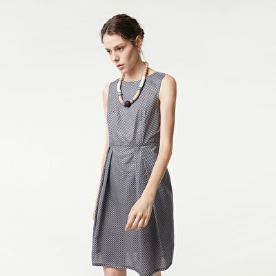 Dress With Pleated Bottom Detail