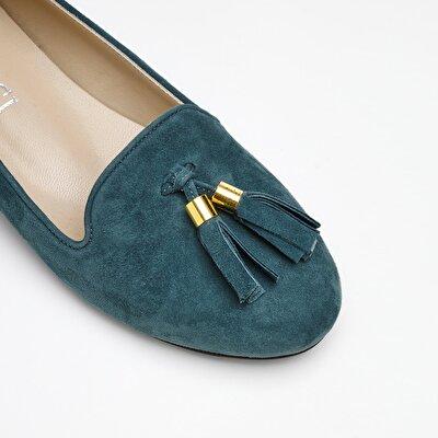Resim Süet Deri Loafer