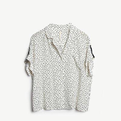 Resim Cep Detaylı Kısa Kollu Gömlek