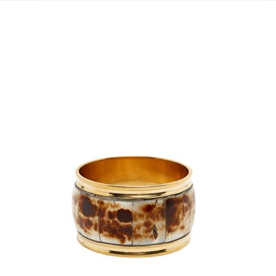 Brass/bone Napkin Ring