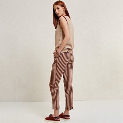 Hem Detailed Slim Fit Trousers