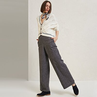 High Waist und Breite Damen Hose