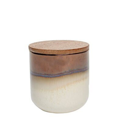 Scented Candle in Ceramic Jar - Bamboo Green Tea
