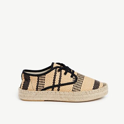 Straw Sneaker With Jute Outsole