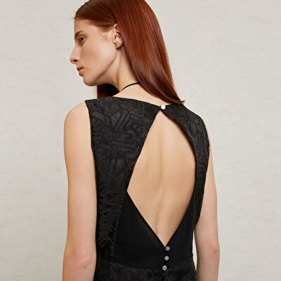 Backless A Line Dress