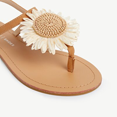 Sandal With Flower Detail