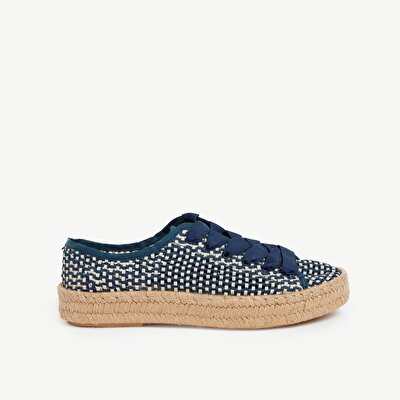 Woven Sneaker With Jute Outsole