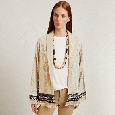 Fringe Detailed Jacket