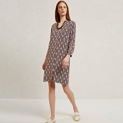 Collar Detailed Shirt Dress