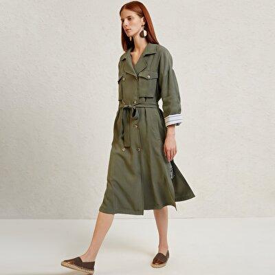 Damen Trenchcoat mit Taschen