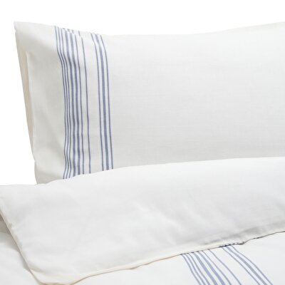 Esinti King Size Blue Stripe Quilt Cover ( 269 X234 Cm )