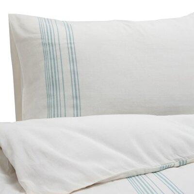 Esinti 2 Pcs Green Stripe Pillow Case ( 51 X 94 Cm )