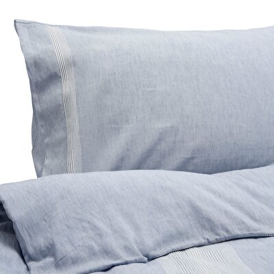 Marine Blue 2 Pcs Oxford Pillow Case ( 51 X 94 + 4 Cm )