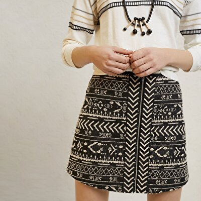Picture of Patterned Mini Skirt