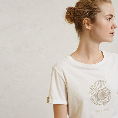 Round Neck Preinted T-Shirt