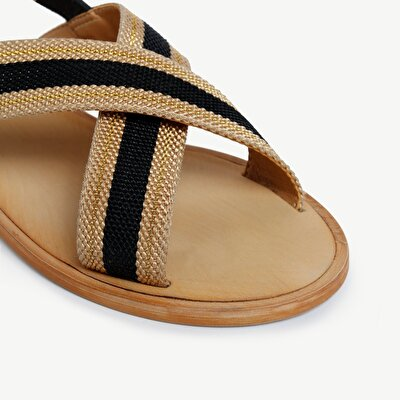 Sandal With Leather Detail