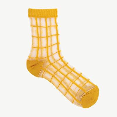 Damen Socken durchsichtig und karriert