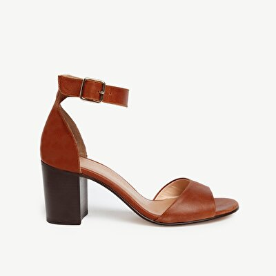 Leather HigH-Heel Sandal