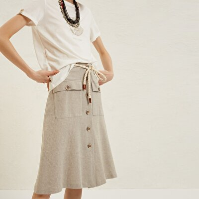 Belt Detail Skirt