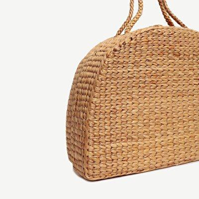 Grosse geflochtene Handtasche