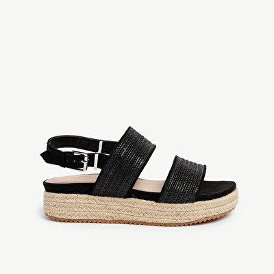 Sandalen mit Bast-Umrandung
