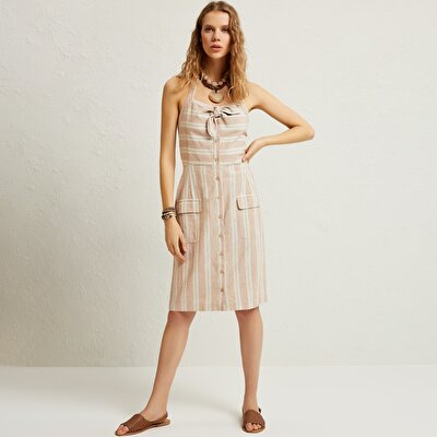 Picture of Tie Front Midi Dress