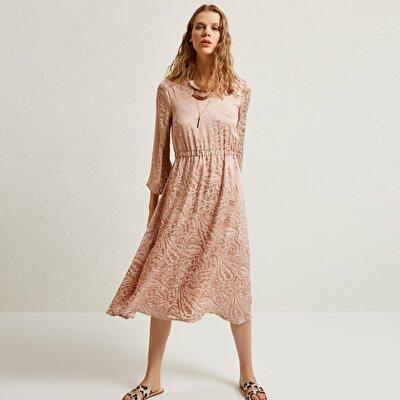 Kleid V Ausschnitt Lang
