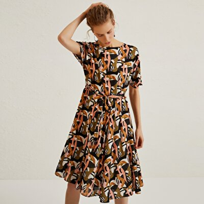 Midi Patterned Dress