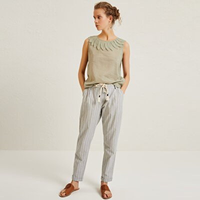 Resim Kemer Detaylı Havuç Form Pantolon