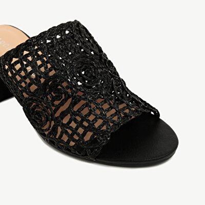 Straw HigH-Heel Slipper