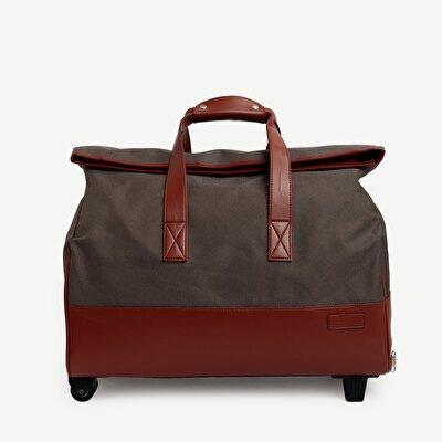 Koffer aus Stoff mit Rädern