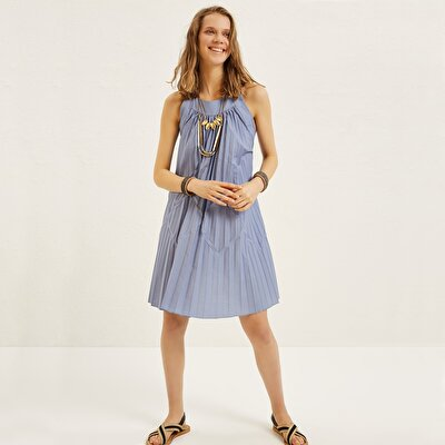 Pleated Sleeveless Dress