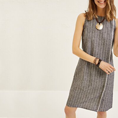 Raw Edge Midi Dress