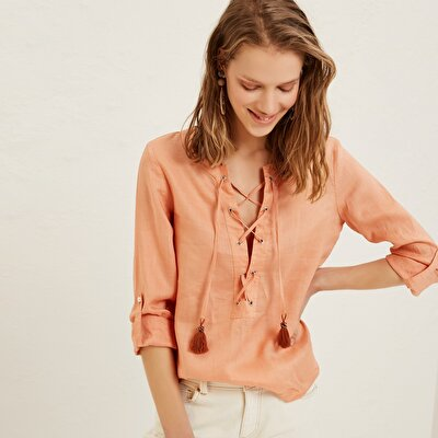 Fringe Detailed Blouse