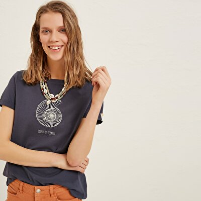 Picture of Round Neck Preinted T-Shirt