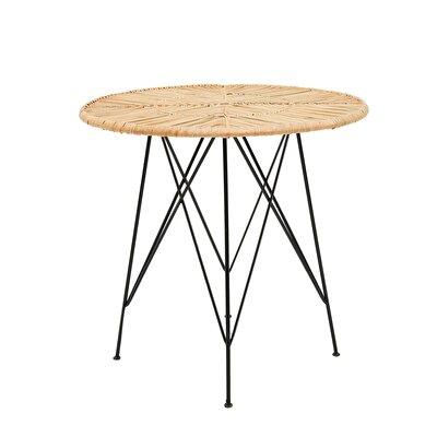 Rattan Tisch rund
