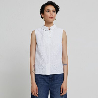 Back Detailed Sleeveless Shirt