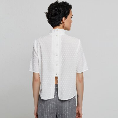Back Detailed Short Sleeve Shirt