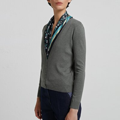 Deep V Neck Cardigan