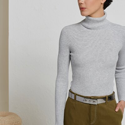 Turtle Neck Seamless Knitwear