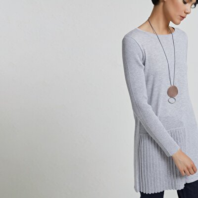 Pleat Detailed Knit Tunic