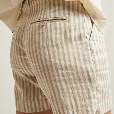 Damen Bermuda Shorts klassisch mit Gürtel