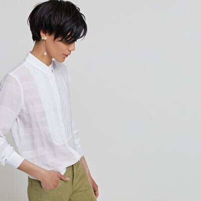 Pintuck Detailed Shirt