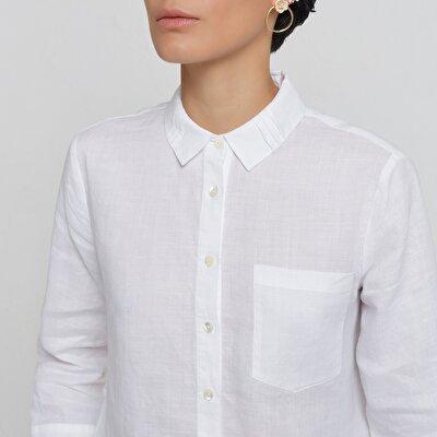 Damen Hemd mit Plissee-Falten